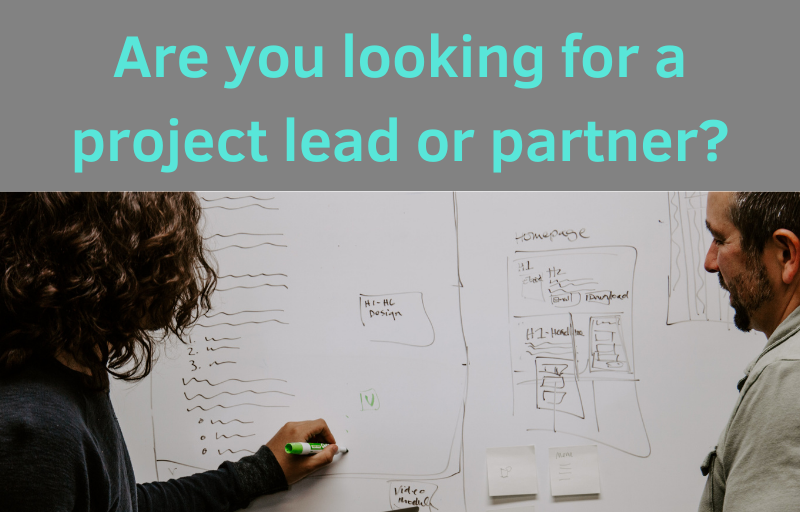 Looking for a project lead or delivery partner?
